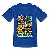 Photo de Tortues Ninja Donnie Leo Mikey Raph Brothers T-Shirt Enfant, 3-4 Ans, Bleu Royal