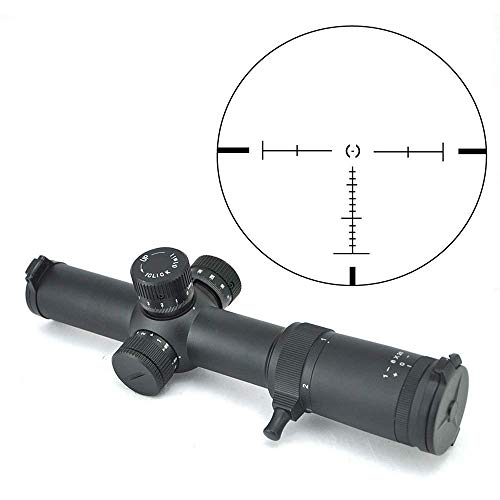 TOTEN Rifle Scope 1-8X26 FFP Illuminated Crosshair Gun Scopes Tactical 0.1mil Click for Viewing