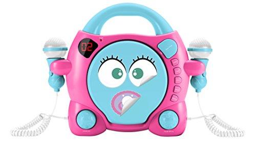 Big Ben, Portable CD Player met 2 Microphones - My Mia (Roze/Blauw)
