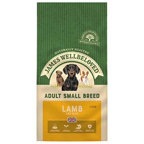 James Wellbeloved Alimento Completo seco para Perros de Raza pequeña para Adultos de Cordero y arroz, 3 Libras
