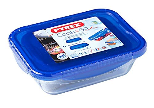 Pyrex Food Storage Container, Blue, 24x18x6cm 912S904