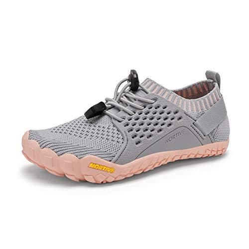 NORTIV 8 Kids Water Shoes Boys Girls Outdoor Lightweight Sports Shoes Light Grey Pink Size 5 Big Kid Aqua-k2