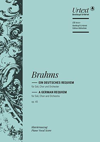 Ein deutsches Requiem op. 45 - Breitkopf Urtext - Klavierauszug (EB 6071)