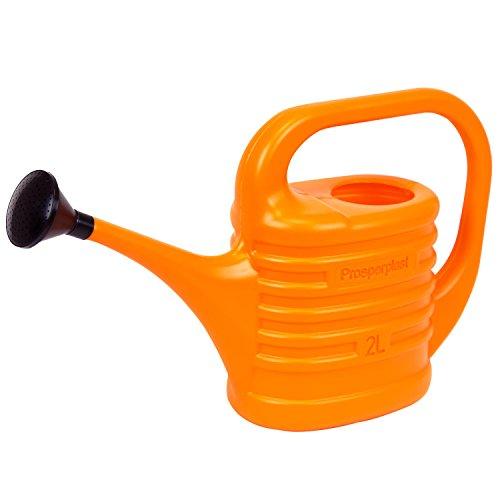 Unbekannt 2 L Jardin Arrosoir avec douchette Douille Entretien Pichet Tapis Couleurs Orange Plastique