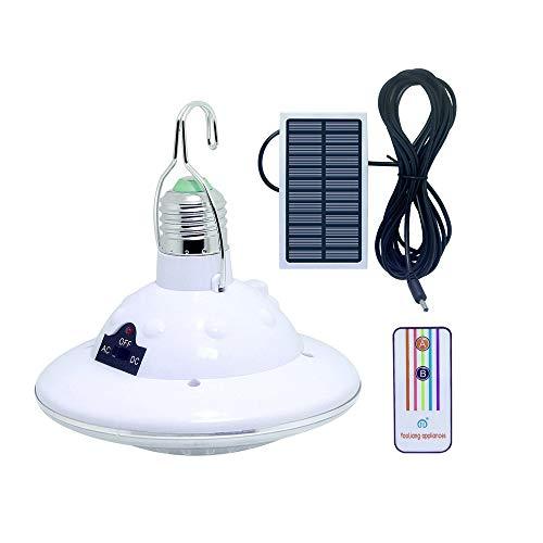 Solarlampe 22 LED Solar Glühbirne mit Haken und Fernbedienung Für Outdoor Camping Lampe Zelt Lampe Wandern