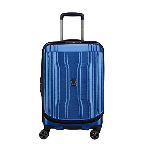 DELSEY Paris Cruise Lite Hardside 2.0 Expandable Luggage, Spinner Wheels, Blue, Carry-on 21 Inch