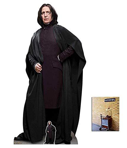 Wizarding World Harry Potter Professor Snape Offizieller Pappaufsteller in Lebensgröße, 190 cm x 98 cm, inkl. Mini-Ausschnitt und Foto 20,3 x 25,4 cm