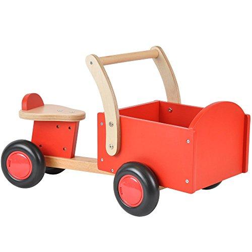 Vierrad mit Transportbox - ab 1 Jahre Rot