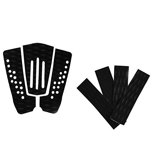 MagiDeal 7 Piezas Almohadilla de Tracción de Cola Cubierta Grips Antideslizante Negro EVA para Tabla de Surf
