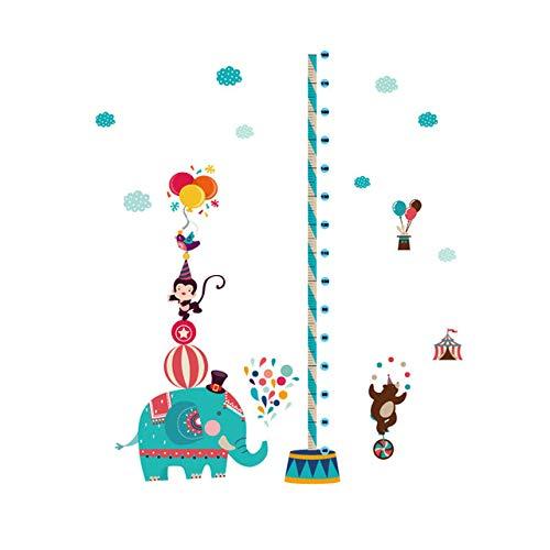 gw Niedlichen Cartoon Tier Höhe Wandaufkleber Kinderzimmer Kindergarten Höhe Maßtabelle Abnehmbare Tür Fenster Schrank Aufkleber T3