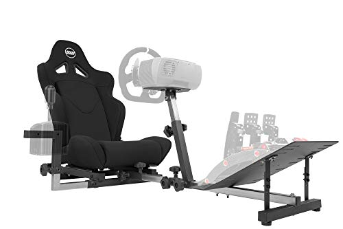 Openwheeler GEN2 Racing Wheel Stand Cockpit Black on Black | Fits All Logitech G29 | G920 | All Thrustmaster | All Fanatec Wheels