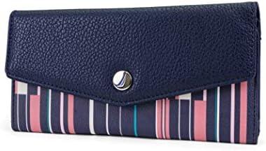 Nautica Money Manager RFID Women s Wallet Clutch Organizer Ribbon Stripe product image