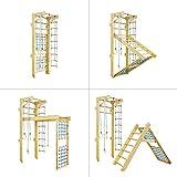 Kidsmont - Espaldera 5 en 1, plegable, espaldera para espaldera, espaldera, espaldera, espaldera, escalada, interior, pared de escalada, azul, Sprossenwand