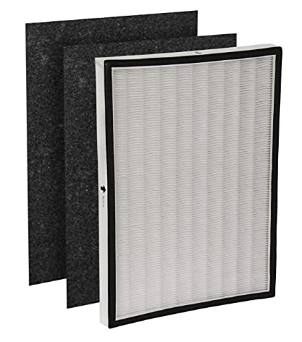 LifeSupplyUSA 2 HEPA Filters + 4 Odor Pre-Filters Compatible with Oreck OptiMax Medium Room Air Purifier AIR95