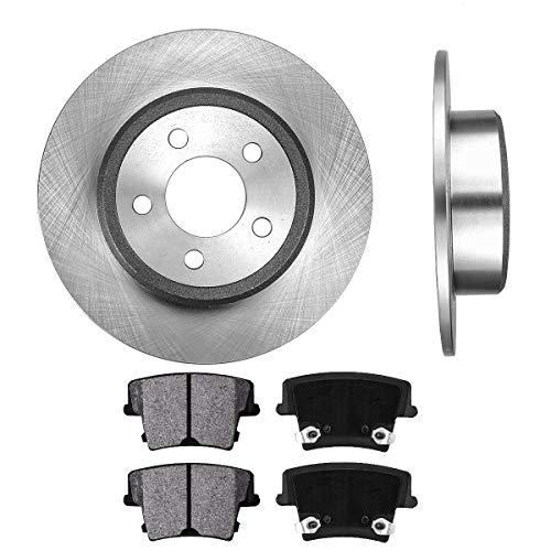 CRK12268 REAR 320 mm Premium OE 5 Lug [2] Brake Disc Rotors + [4] Metallic Brake Pads