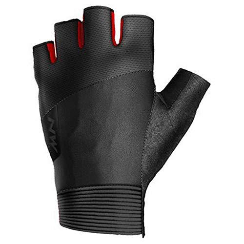 Northwave Extreme Fahrrad Handschuhe kurz schwarz/rot 2021: Größe: M (8)