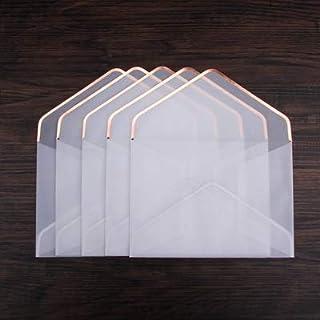CHUJIAN 20pcs/set Hot Stamping Printing Paper Envelope Transparent Sulfuric Acid Paper Envelope Wedding Letter Invitation ...
