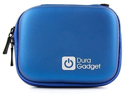 DURAGADGET Blue Hard EVA Case with Carabiner Clip & Twin Zips - Compatible...