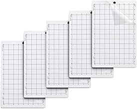 Dasorende 5Pcs Replacement Cutting Mat Adhesive Mat With Measuring Grid 8 X 12 Inch for Silhouette Cameo Explore