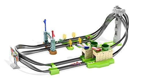 Hot Wheels GHK15 - Mario Kart Mario Rundkurs Rennbahn Trackset Lite inkl. 1 Spielzeugauto, Spielzeug ab 5 Jahren