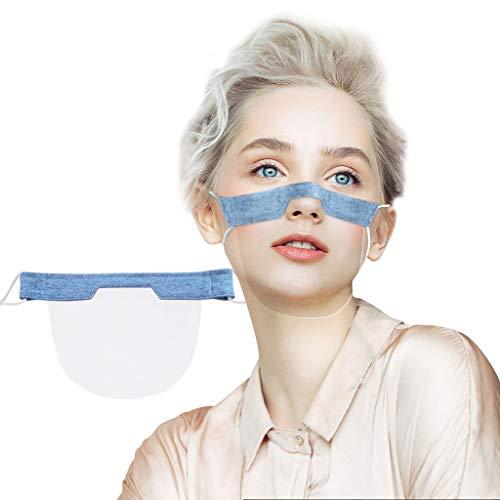 eiuEQIU 1-10 Stück Safety Mundschutz- Transparent Schutzvisier - Gesichtsschutzschild aus Kunststoff -Visier Gesichtsschutz -Anti-Fog -Anti-Öl Splash
