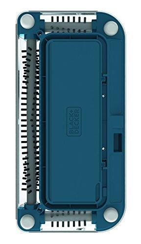 Black+Decker PSA115B-QW 3.6V, 1.5Ah Lithium Akku-Kehrbesen, Laufzeit 30 min, für kurzflorigen Teppiche und Hartböden, kabellos, beutelos, aufladbar, weiss, PSA115B, Acrylic, 300 milliliters, Blau - 7