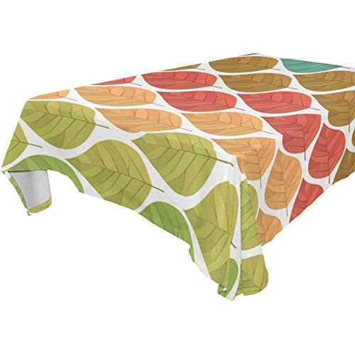 NaiiaN Speisen des abstrakten nahtlosen Musters des Regenbogen-Blatt-54x72 Zoll-Tabellen-Abdeckungs-Tischdecken-Tischdecken-Tieres für Partei-Hochzeiten Küche