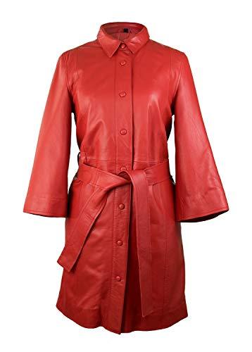 Zerimar Abrigo - Vestido Mujer | Abrigo Mujer Piel | Abrigo Largo Casual Cuero | Chaqueta Larga...