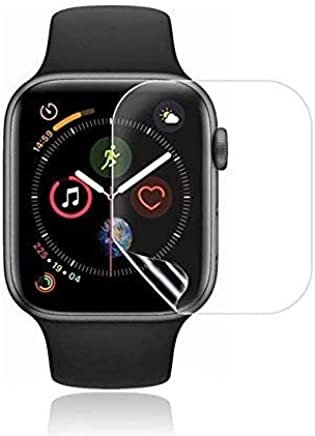 Jump Start Apple Watch Screen Protector 44mm Series 4/3/2/1 Compatible, Liquid Skin Anti-Bubble HD Clear Full Coverage Film (NOT Glass)