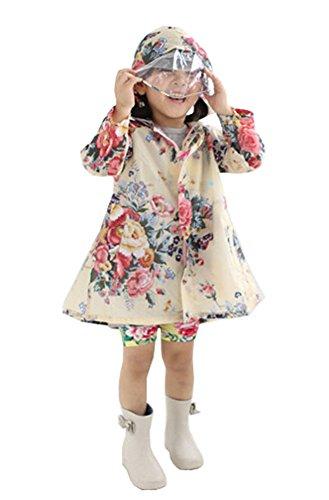 Baby-girls Robe de princesse pluie Mode enfants pluie Style rétro [A] S