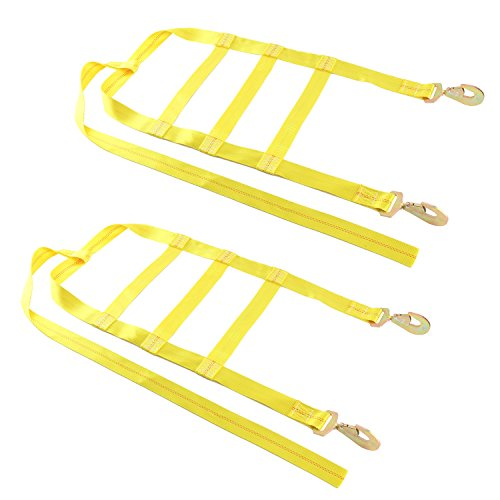 8MILELAKE 2pcs Automobile Tie Down Axle Straps