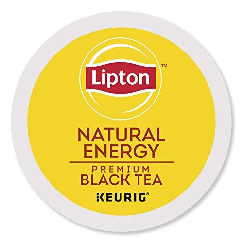 Lipton K-Cup Portion Pack for Keurig Brewers, Natural Energy Premium Black Tea, 24 count.