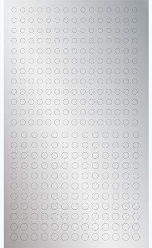 ハイキューパーツ 円形メタリックシールM (3.0-4.6mm) メタリックシルバー 1枚入 プラモデル用シール CMS-M...