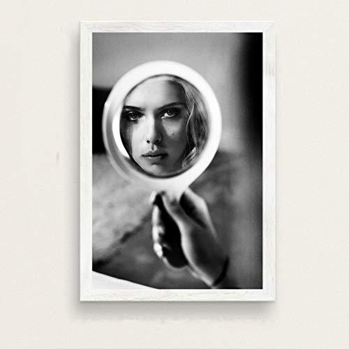 zxddzl Scarlett Johansson Star Art Malerei Seide Leinwand Poster 30 50 * 70