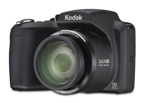 Kodak Z5120 EasyShare Digitalkamera (16 Megapixel, 26-fach opt. Zoom, 7,6 cm (3 Zoll) Display, 26-mm-Weitwinkelobjektiv, bildstabilisiert) schwarz
