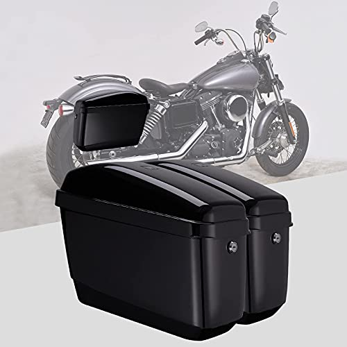 Motorcycle Hard Saddlebags Saddle Bags compatible with vulcan 800 900 Vstar 650 1100 1300 Softail...