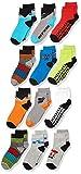 Spotted Zebra Boys' Kids Cotton Crew Socks, 12-Pack Moto, Medium