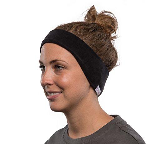 AcousticSheep SleepPhones Kabellos Bluetooth Stirnband-Schlaf-Kopfhörer - vlies, schwarz, mittel