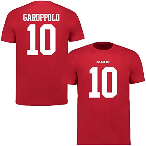 Fanatics NFL Jimmy Garoppolo #10 San Francisco 49ers Name Number Shirt Jersey Trikot (3XL)