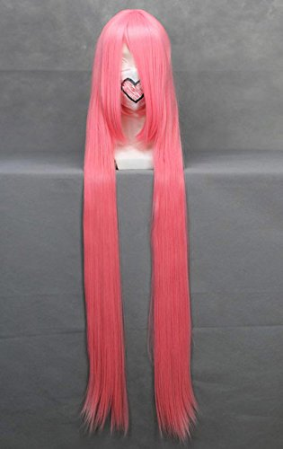 JapanAttitude Perruque Longue Rose 120cm, Cosplay Vocaloid Luka, Air Gear Simca