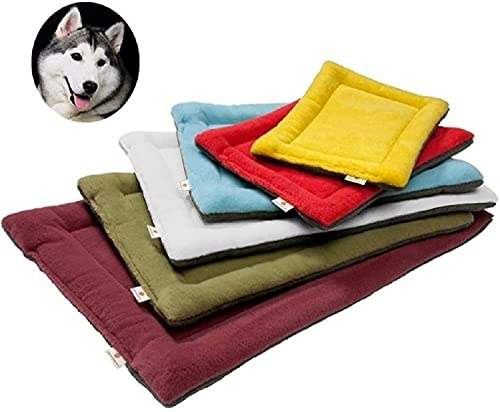 YouthUnion Colchoneta Cama para Mascota, Almohada Invierno Lavable Higiénica Suave para Perros Gatos Caliente Cálida (XS, Vino)