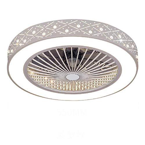 Deckenlüfter Lampe Fernbedienung Handy App Smart Home Steuerung mit Lichtern Indoor Home Deckenventilatoren guter Schlaf 55cm