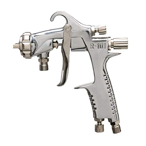 WEZER OTY HVLP Spray Gun Gravity Feed Air,Equipped with 1.5Mm Nozzle Silver Alloy Gun Body,Suitable for Wood Carving Surface Paint,R101p,0.8mmcaliber