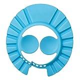 Baby Bade-Shampoo Duschschutz Hut weich verstellbar Visier Kappe für Kleinkinder, Babys, Kinder, Blau