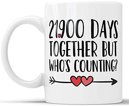21900 Days Together But Who's Counting Lustige Tassen, Keramiktasse für Kaffee und Tee