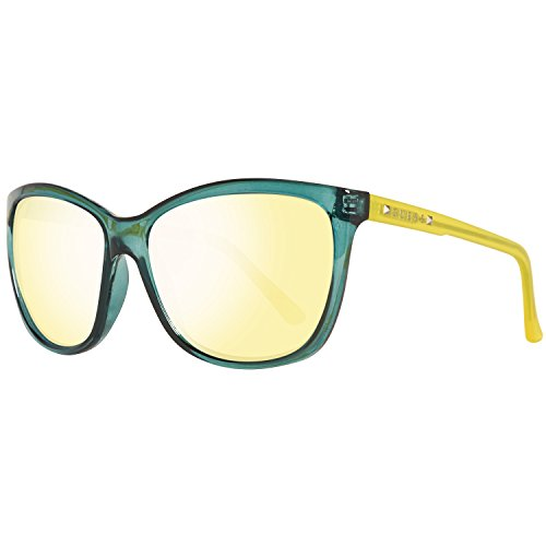 Guess GU7308 60S18 Guess Sonnenbrille GU7308 S18 60 Schmetterling Sonnenbrille 60, Gelb