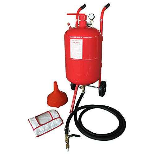 PARTS-DIYER 20 Gallon Portable Air Sand Blaster Handle with Ceramic Tips Sandblaster Air Media Abrasive Blasting High Pressure Tank