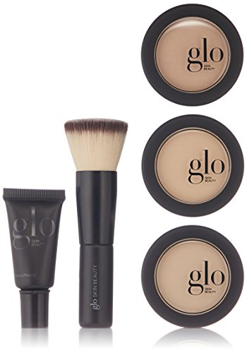 Glo Skin Beauty 5-Piece Powder Foundation Kit in Natural - 4 Shades, Travel Minis - Mineral Makeup Set, Meet Your Match