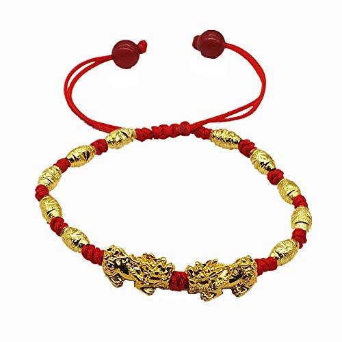 H2okp-009 Unisex Feng Shui Amuleto Pi Xiu Charm Beads Trenzado Cuerda Pulsera Brazalete Regalo Moda Casual Hembra