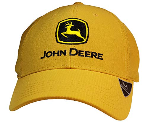John Deere Memory Fit - Con Yellow Cap-Yellow-Os